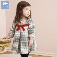 DB5992 Dave Bella Infant Baby Girl S Princess Dress Fashion Plaid Dress Toddler Children Clothes