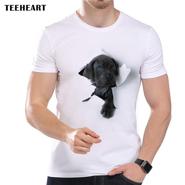 TEEHEART 2017 Summer Super Cute 3D Dog Design T Shirt Men ...