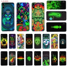 Lavaza Weed Art stellar Hard Phone Case for Apple iPhone 6 6s 7 8 Plus X 5 5S SE XS Max XR Cover