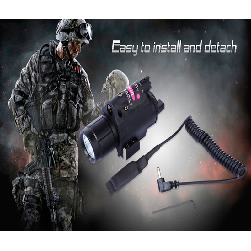 Red Laser Sight Scope Tactical LED Flashlight 2 In 1 Tactical Hunting Shooting Laser Sight For Rifle Pistol Gun 20mm Rail