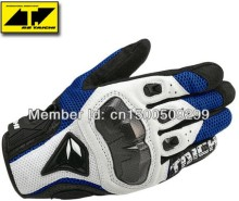 Hot sales Newest Rs-taichi 391 off-road carbon fiber racing gloves motorcycle gloves knight gloves half leather  M L XL