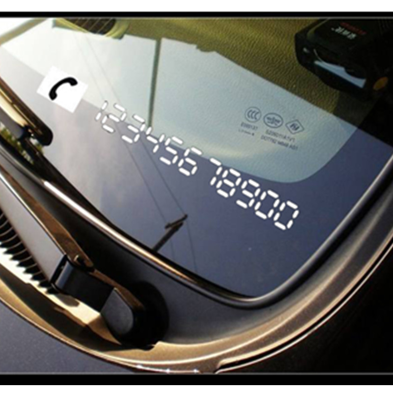 Car Goods Vinyl Reflective Materials Temporary Parking Car Cellphone Number License Plates Stickers Auto Car accessories