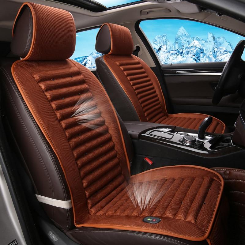 Встроенный вентилятор Подушки циркуляции воздуха вентиляции автокресло CoverFor Toyota Camry 40 RAV4 Verso FJ Land Cruiser LC 200 Прадо 150 1