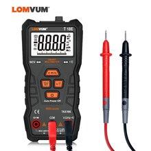 LOMVUM мультиметр True RMS 6000 отсчетов Высокоточный цифровой мультиметр NCV умный мультиметр Авто Диапазон AC/фонарик постоянного тока