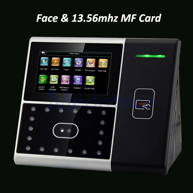 Biometric Face Employee Time Attendance Iface301 Face Recognition System Face Employee Time Clock With 13.56mhz Card Reader