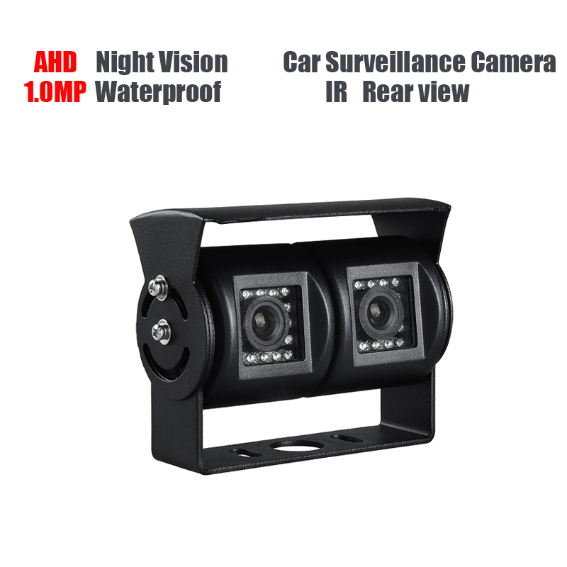 AHD 1.0MP Dual Cam IR Night Vision Waterproof Rear View Parking Backup Reversing Camera for Vehicle Truck Bus Vans Surveillance ahd 2 0mp indoor truck mini camera ir night vision 1 3 ccd sony pal 3 6mm for vehicle school bus vans taxi surveillance security