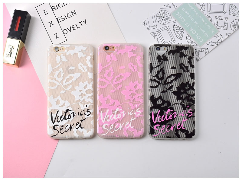Hot black pink white Victoria secret scrub Transparent TPU case for iPone 6 case 6/6s pl ...
