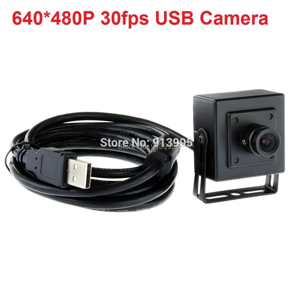 ФОТО ELP black aluminum case 480P VGA 30FPS  cmos OV7725 mini  usb camera otg with 6mm lens for Android,Linux,Windows,MAC OS
