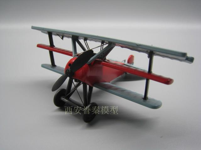 AMER 1/72 Scale Military Model Toys First World War The Red Baron Fighter Diecast Metal Plane Model Toy For Collection/Gift