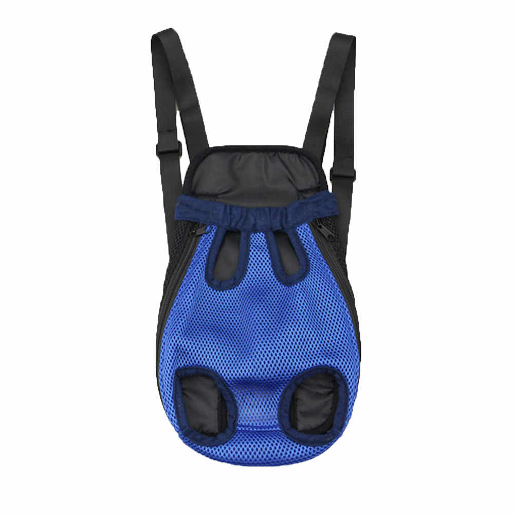 Transer Nylon Mesh Pet Puppy Dog Cat Dark Blue Carrier Backpack Front Net Bag Tote Sling Carrier 19Jan9 P40