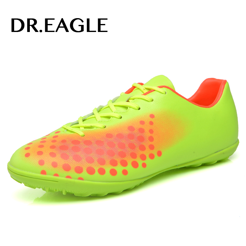 DR.EAGLE Professional soccer shoes Kids Indoor futsal football boots, TF Turf Racing Soccer Shoe Training child football shoes
