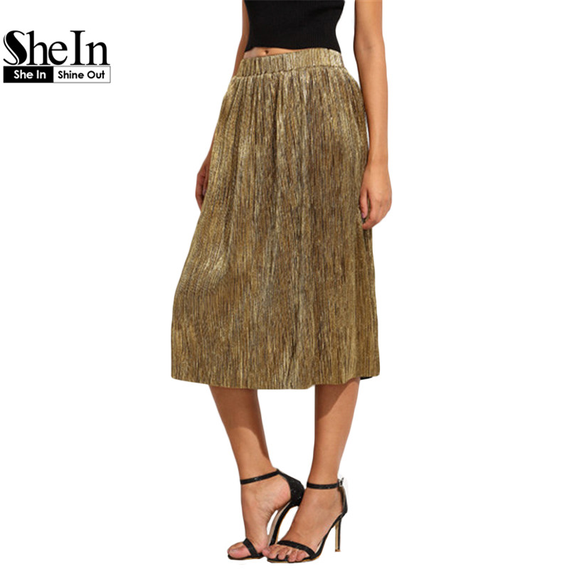 SheIn Fashion Skirts For Women New Arrival Autumn Long ...