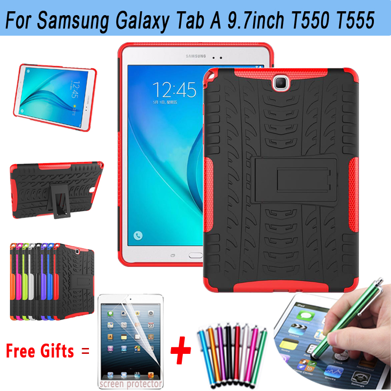 Tablet Cases For Samsung Galaxy Tab A 9.7 Case T550 T555 Hyun Armor Silicone Kickstand Case for Samsung Galaxy Tab A 9.7 Cover