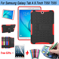 Tablet Case For Samsung Galaxy Tab A 9.7 Case T550 T555 Hyun Armor Silicone Kickstand Cover for Galaxy Tab A 9.7 S-Pen P550 P555