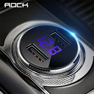 ROCK 5 V 3.4A Dual USB Car Charger For iPhone X 8 7 Samsung Xiaomi