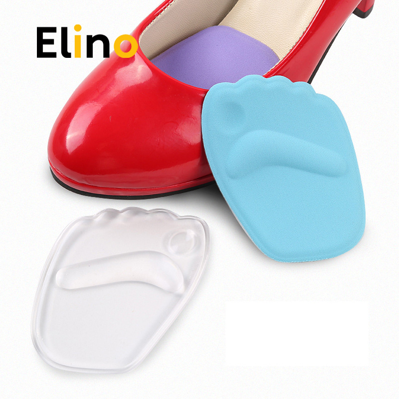 Elino High Heels Insoles Front Forefoot Pad 3D Silicone Heel Pads Half Palm Insole Massaging Cushion Absorption Shock Insoles
