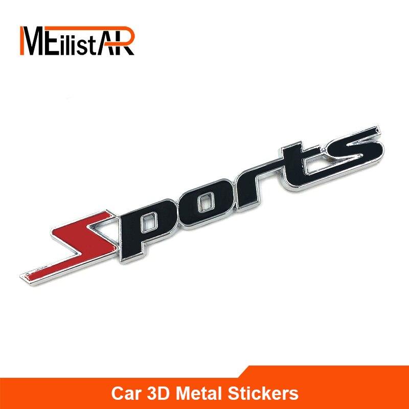 Стайлинга автомобилей 3D ABS хром логотип автомобиля Стикеры Спорт Эмблема двери значок наклейка на авто Интимные аксессуары для Toyota Highlander BMW ...