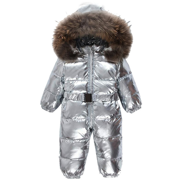 Best Offers 2019 New Winter Silver Romper Children Baby Boy Thick Clothes 90% White Duck Down Kids Overcoat Baby Boy Parka Girl Down Jacket