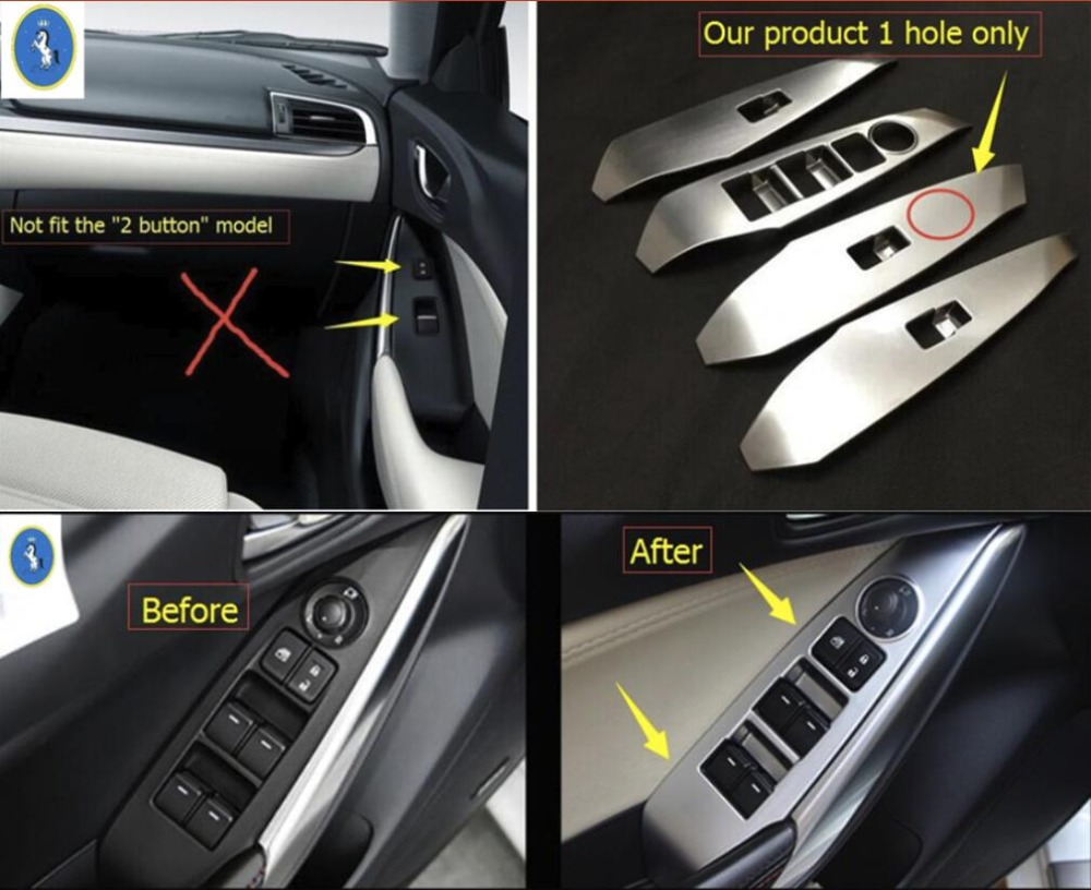 Yimaautotrims Accessories Interior Door Handle Holder Window Lift Button Switch Cover Trim For Mazda 6 Sedan Wagon 2016 2017 Interior Mouldings Aliexpress