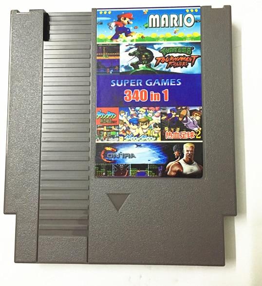 Freies Super Game 340 in 1 Spiel Warenkorb, 72 Pins NES Spiel Patrone Ersatz Kunststoff Shell