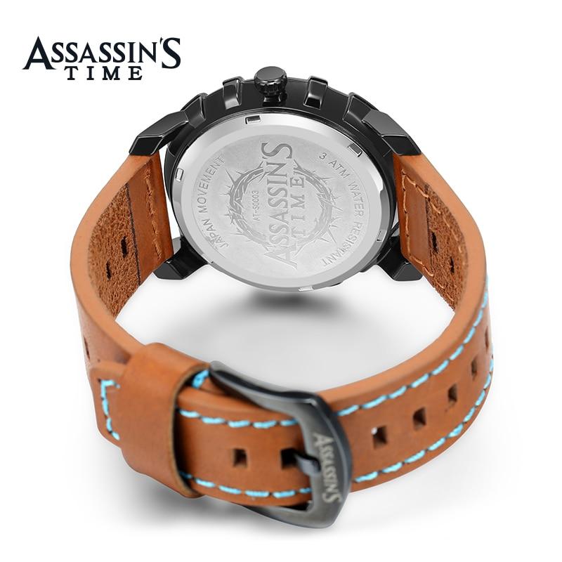 Assissan's Time ապրանքանիշ Relogio Masculino Բնական - Տղամարդկանց ժամացույցներ - Լուսանկար 5