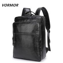 20 VORMOR Brand waterproof 15.6 inch laptop backpack men PU leather backpacks for teenager Men Casual Daypacks mochila male