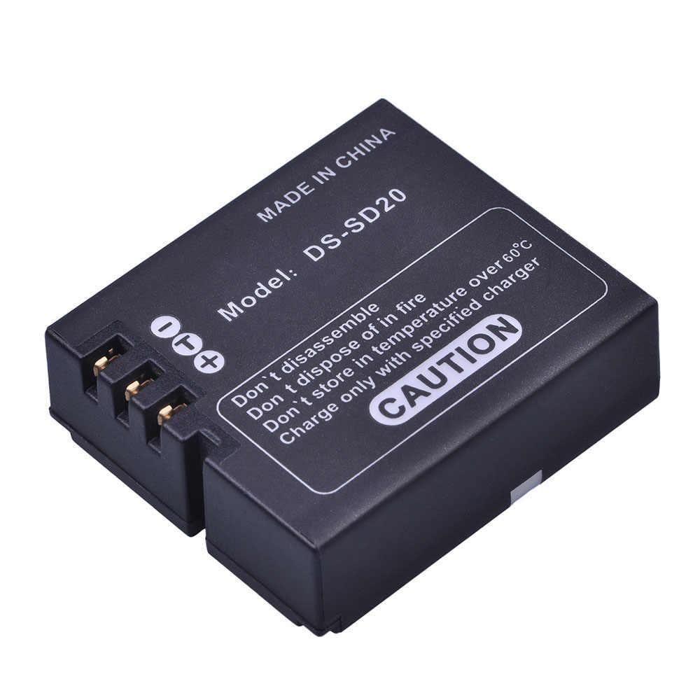 3 pièces DS-SD20 SD20 DS SD20 Batteries + Chargeur Mural Kits pour Rollei 3 S 4 S 5 S ActionPro SD20F WiF Rollei 3 S D'action Caméras De Sport