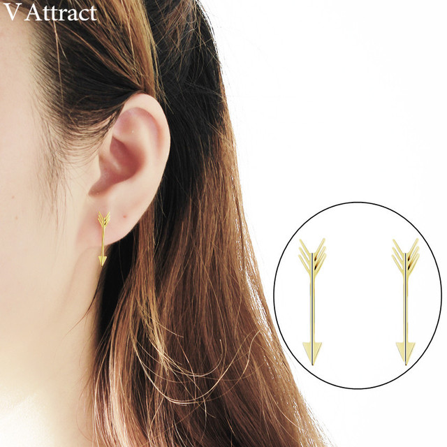 b3ec564ce69f V Attract 10pcs Vintage Small Arrow Stud Earrings 2018 Stainless Steel  Bijuteria feminina Korean Jewelry Gold Silver Pendientes