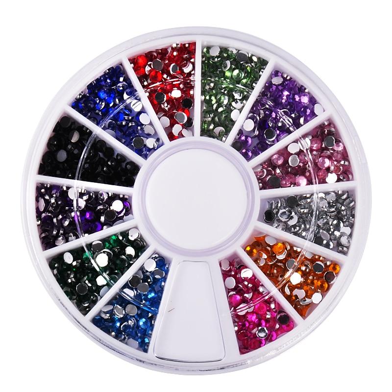 biutee 12 colors nail rhinestones