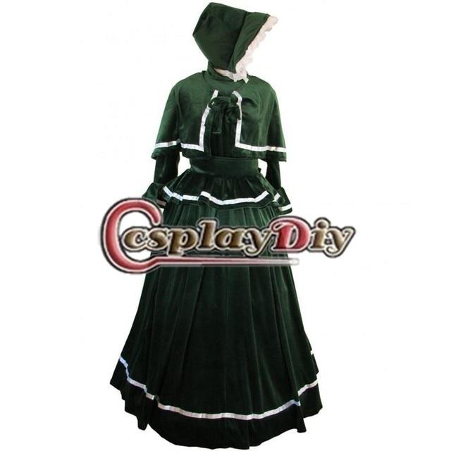 Custom Made Women S Dress Victorian Carol Singer Medieval Lolita