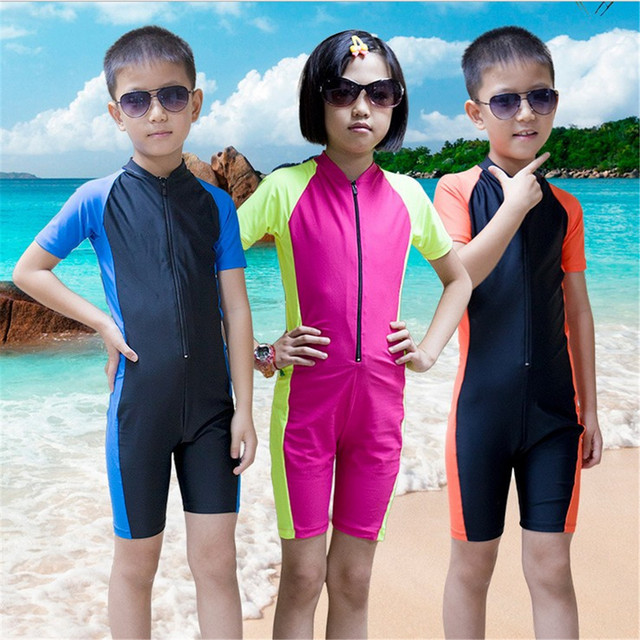 305bc0dd03 Child Wetsuit Kids Diving Suit Shorty Surfing Wetsuits Short Sleeve Boys  Girls Wet Suit For Swimming Lycra Dive Skins Swimwear