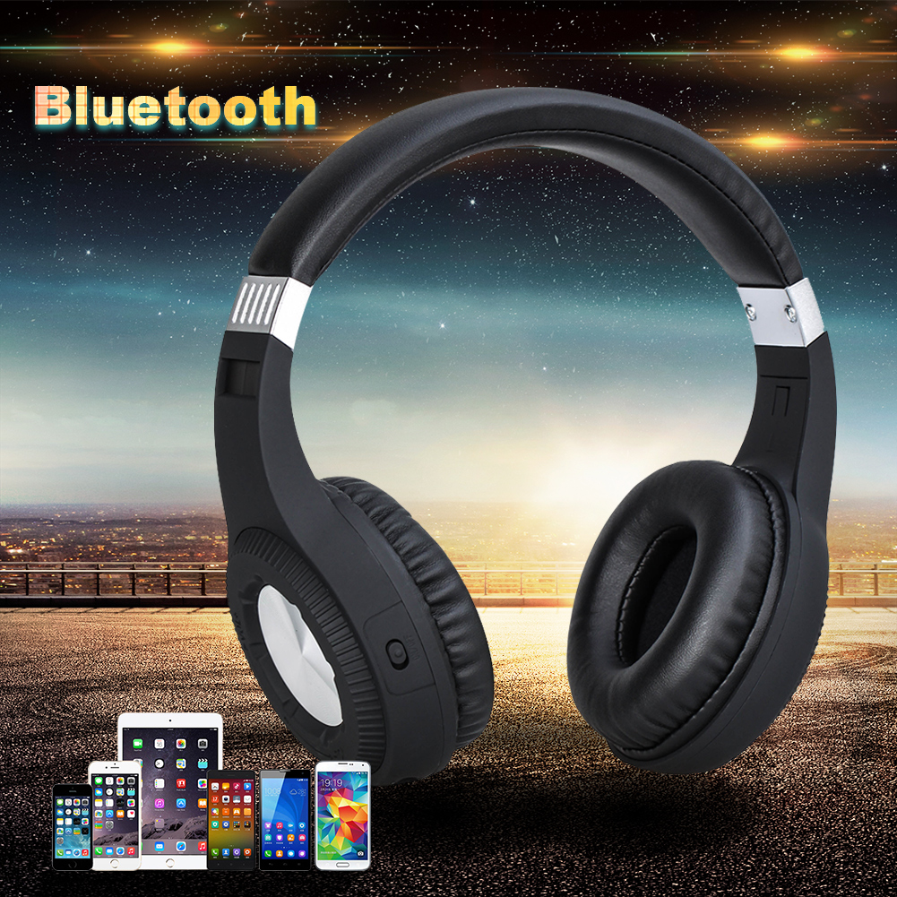 Original Bluetooth Headphones W/ Mic Microphone Stereo Wireless Headset BT 4.1 for Iphone Samsung Xiaomi HTC bt 16 wireless bluetooth v3 0 edr headset w microphone for samsung iphone 5 xiaomi red