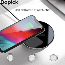Bapick Qi 5w Wireless Charger for iPhone X XR XS 7 8 plus Samsung Galaxy S8 S9 S10 Plus Xiaomi Huawei P30 Smart Charging Pad