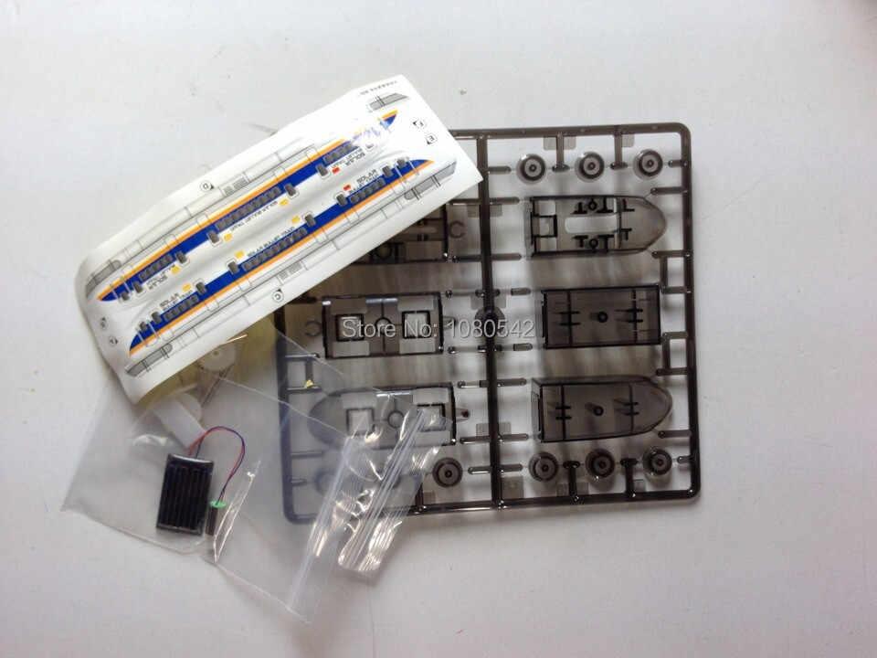 Frete grátis engraçado Solar brinquedo trem de brinquedo DIY educacional Solar kit