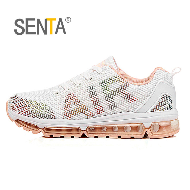 SENTA 2018 New Air Cushion Women Running Shoes Breathable Comfortable Sneakers Jogging Sport Sneakers Outdoor Walking Shoes