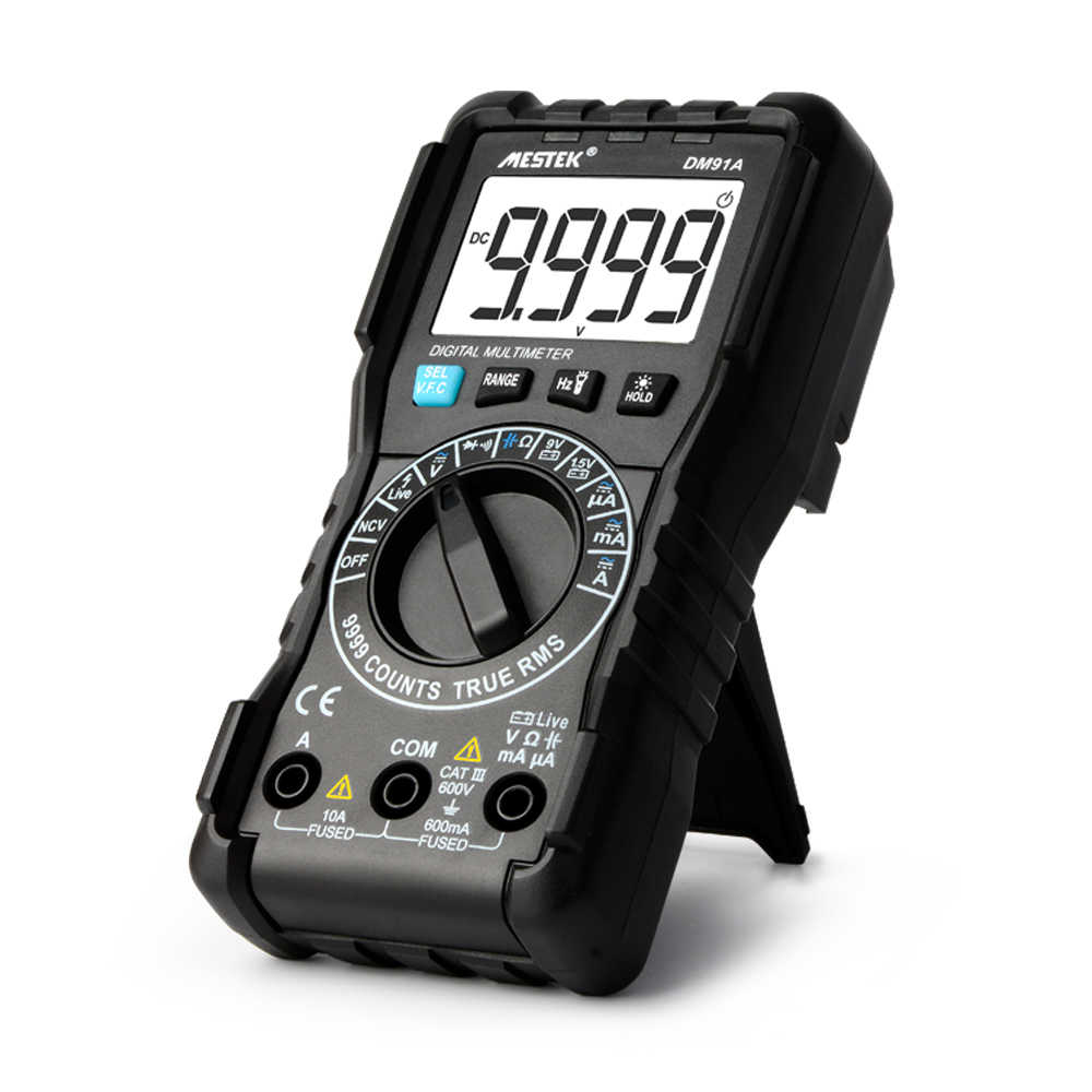 Mestek DM91/DM91A/DM91S Digital Multimeter 9999 Hitungan AC/DC Ammeter Voltmeter Ohm Tegangan Meter HFE NVC kapasitansi Tester