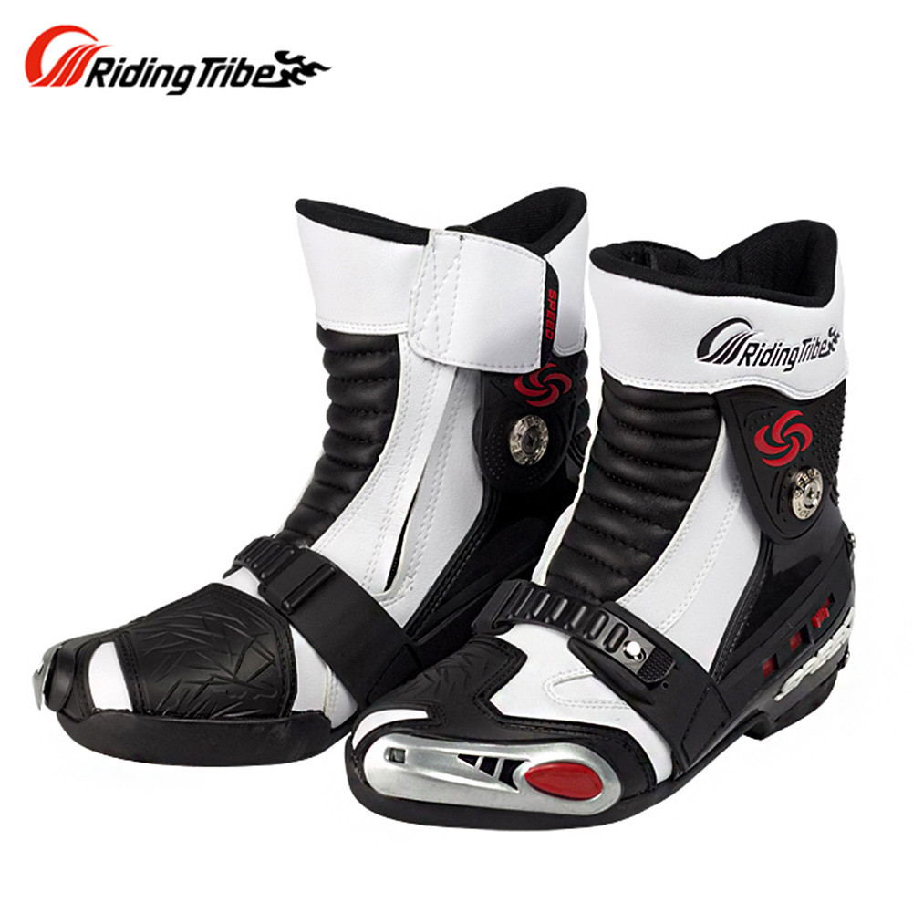 Riding Tribe Motorcycle Boots Shoes Motocross Botas Moto Motoqueiro Motocicleta A00895 Botte Botas Para Moto Racing Men Shoes riding tribe motorcycle waterproof boots pu leather rain botas racing professional speed racing botte motorcross motorbike boots