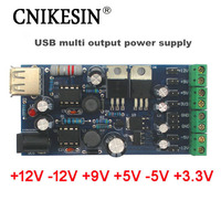 CNIKESIN USB boost single turn double power Mini power Linear regulator multiple positive negative output power supply DIY Suite