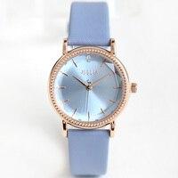 New Julius Lady Women's Watch Japan Quartz Fine Fashion Hours Clock Dress Bracelet Leather School Girl Birthday Gift Box
