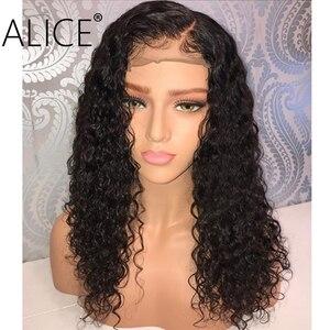 Image 5 - אליס מתולתל שיער טבעי פאות עם תינוק שיער 130% ברזילאי תחרה מול שיער טבעי פאות מראש קטף תחרה גופן פאות 13x4 אין רמי