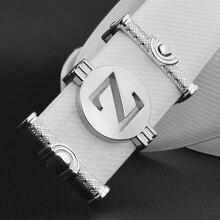 Мужские дизайнерские ремни высокого качества из натуральной кожи ремень роскошный известный бренд белый поясной ремень мужской воловьей кожи джинсы cinto masculino