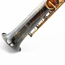 France Soprano Saxophone Bb R54 Wind Instrument Sax Black Nickel Gold saxofone saxofon Musical Instruments High Quality
