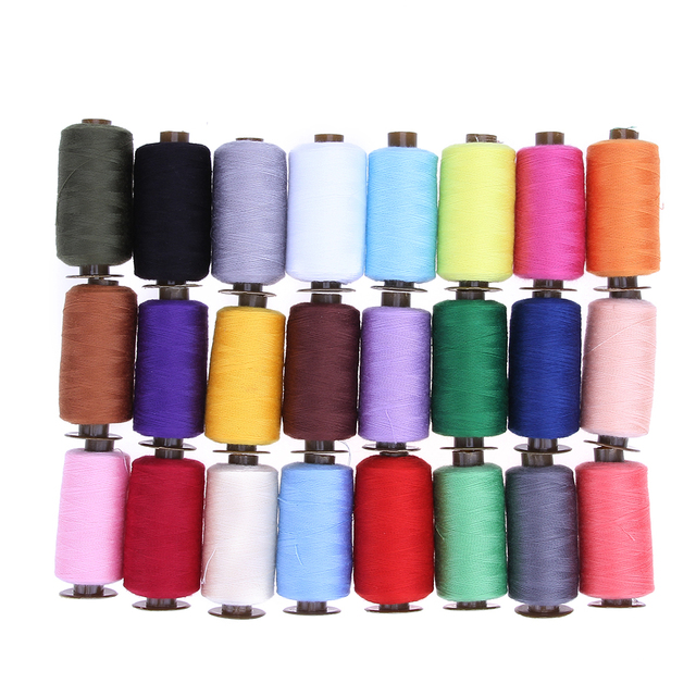 24 Colors 1000 Yard Sewing Threads Polyester Embroidery Thread