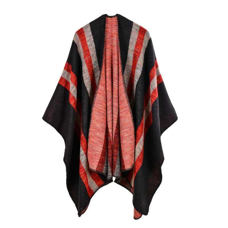 Бренд 2019 Большие женские зимние пончо и накидки винтажный дизайн женский шарф осенние палантины пашмины вязаные echarpe одеяло