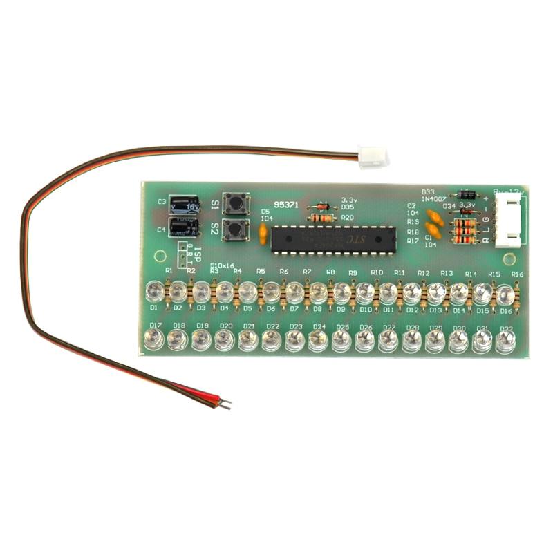 aiyima Vu метр индикатор уровня silly домашние доска пряжка 16 светодиод микроконтроллер дисплей регулируемый пользователь Сид цвет голубой