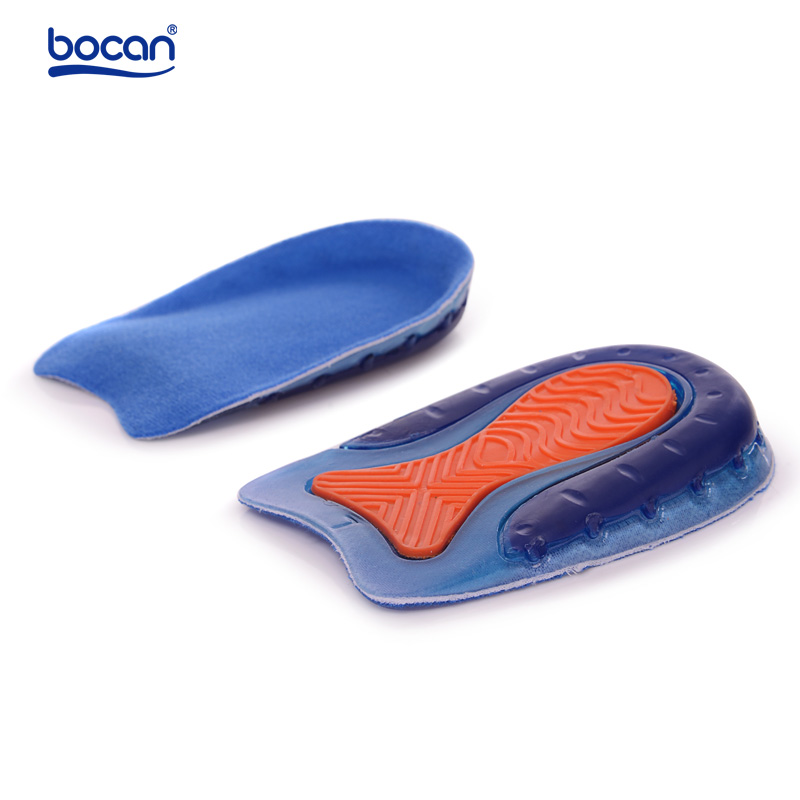 Bocan top quality silicone gel heel spur insoles plantar fasciitis heel pain relieve pad shoe inserts for men women bocan gel insoles for spur plantar