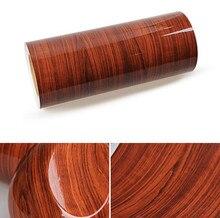 90cm x 100cm (35″ x 40″) Wood Grain Textured Vinyl Self-adhesive Car Wrap Decal Sticker Wallpaper Decor