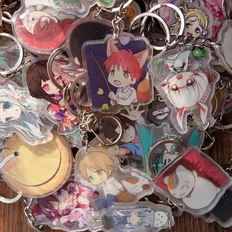 10 cái/bộ Hỗn Hợp Phong Cách Nhiều Anime Áo Thun Touken Ranbu Online Eromanga Sensei Bungo Đi Lạc Chó Umaru Saber doubleside In Hình Móc Khóa