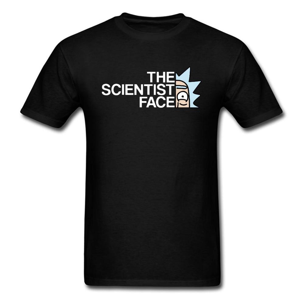 Rick And Morty T shirt Men The Science Face T-shirt Geek 100% Cotton Tops Tees Hip Hop Bad Man Clothes Jurassic Park Streetwear