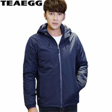 TEAEGG Blue High Quality 2017 Winter Jacket Men Parka Homme Mens Winter Jackets And Coats Thick Male Clothing Outwear AL350